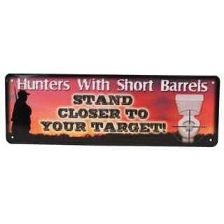 Rivers Edge Products 10.5-inch x 3.5-inch Tin Sign Hunters with Short Barrels