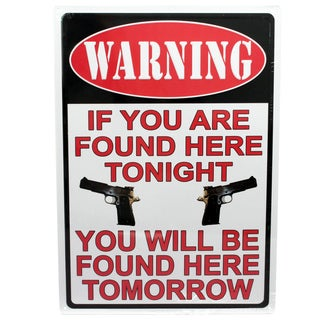 Rivers Edge Products 12-inch x 17-inch Tin Sign Warning-If Your're Found Here