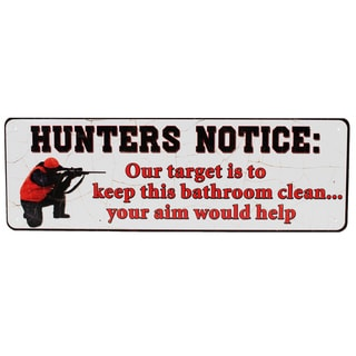 Rivers Edge Products 10.5-inch x 3.5-inch Tin Sign Hunters Notice
