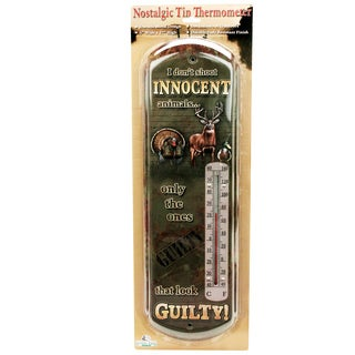 Rivers Edge Products Tin Thermometer Innocent Animals
