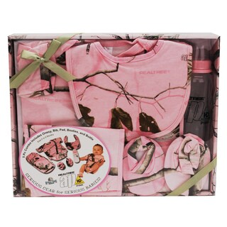 Rivers Edge Products Realtree 5 Piece Baby Outfit AP HD Pink