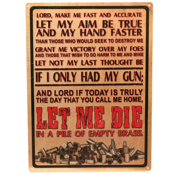 Rivers Edge Products 12-inch x 17-inch Tin Sign Lord's Prayer