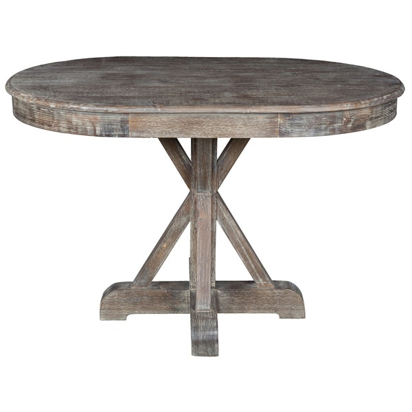 rockie rustic oval dining table by kosas home brown free shipping today overstock 17468501. Black Bedroom Furniture Sets. Home Design Ideas