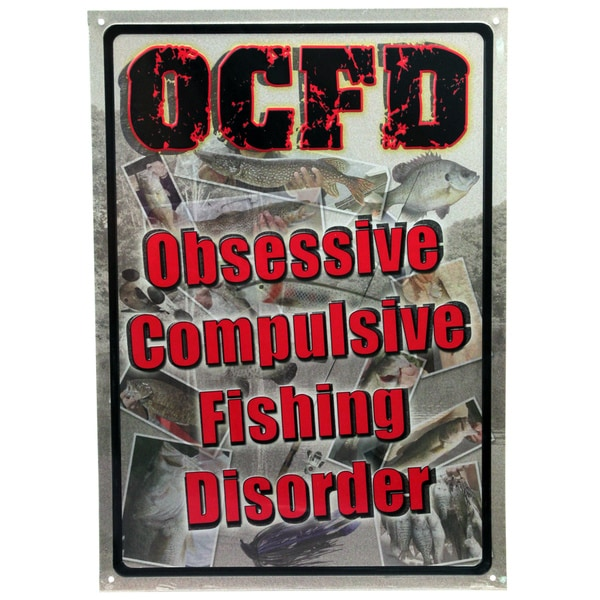 Rivers Edge Products 12-inch x 17-inch Tin Sign Obsessive Compulsive