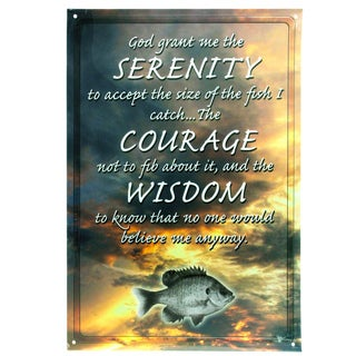 Rivers Edge Products 12-inch x 17-inch Tin Sign Serenity Courage Wisdom