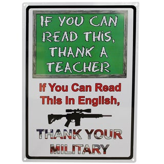 Rivers Edge Products 12-inch x 17-inch Tin Sign If You Can Read This Sign
