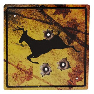 Rivers Edge Products 11.5-inch x 11.5-inch Tin Sign Deer Crossing