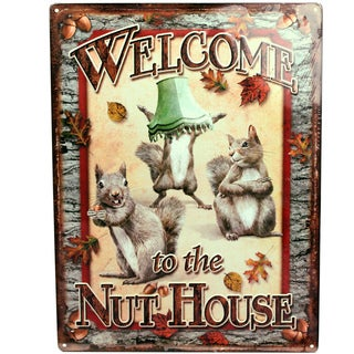 Rivers Edge Products 12-inch x 17-inch Tin Sign Nut House