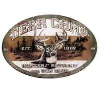 Rivers Edge Products 12-inch x 17-inch Tin Sign Deer Camp