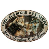 Rivers Edge Products 12-inch x 17-inch Tin Sign The Gang's All Here