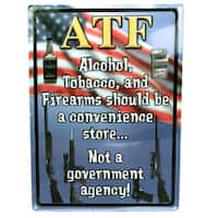 Rivers Edge Products 12-inch x 17-inch Tin Sign ATF
