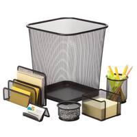 Honey-can-do 6-Piece Mesh Desk Set