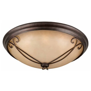 Lumenno Budapest Collection 8-light Bronze Flush Mount Ceiling Light