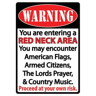 Rivers Edge Products 12-inch x 17-inch Tin Sign Redneck Area