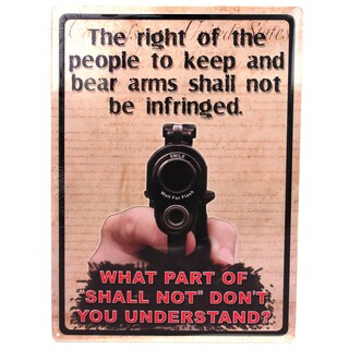 Rivers Edge Products 12-inch x 17-inch Tin Sign The Right To Keep and Bear Arms