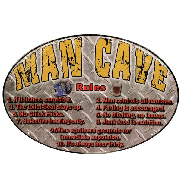 Rivers Edge Products 12-inch x 17-inch Tin Sign Man Cave