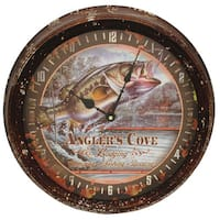 Rivers Edge Products Metal Clock 15-inch Bass
