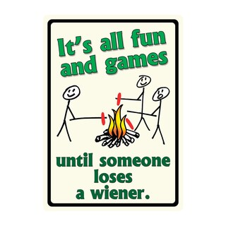Rivers Edge Products 12-inch x 17-inch Tin Sign Until Someone Loses a Weiner