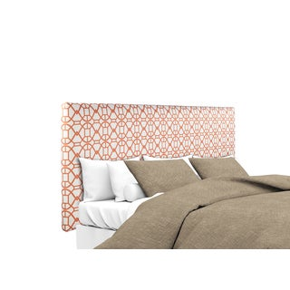 MJL Furniture Alice Noah Sunset Orange Upholstered Headboard