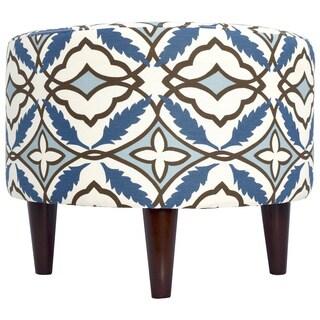 Sophia Round Eden Upholstered Ottoman