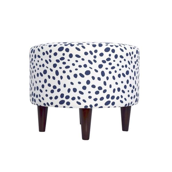 sophia round togo upholstered ottoman - Upholstered Ottoman