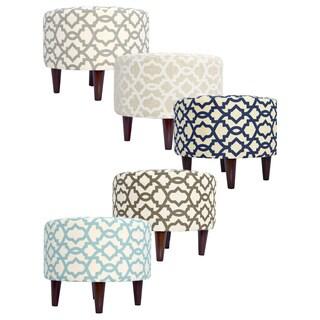 Sophia Round Sheffield Upholstered Ottoman