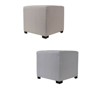 MJL Furniture Sachi 4 Button Tufted Square Ottoman