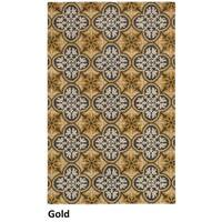 Hand-tufted Trellis Wool Gold Rug (8' x 10')