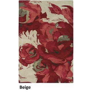Hand-tufted Wool Abstract Beige Rug (9' x 12')