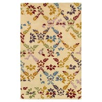 Hand-tufted Abstract Wool Beige Rug (3' x 5')