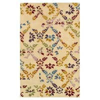 Hand-tufted Abstract Wool Beige Rug (5' x 8')