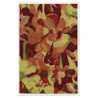 Hand-tufted Abstract Wool Multi Rug (5' x 8') - 5' x 8'