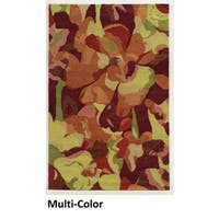 Hand-tufted Abstract Wool Multi Rug (8' x 10') - Multi-color - 8' x 10'