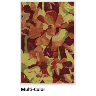 Hand-tufted Abstract Wool Multi Rug (9' x 12')