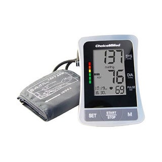 ChoiceMMed Auto Digital Upper Arm Type Blood Pressure Monitor with Color Code Indicator