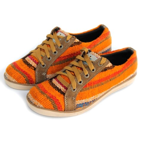 Handmade ANDIZ Handmade Orange Low-cut/ Size 14 Oxford Shoes (Ecuador)