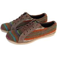 Handmade ANDIZ Women's Handmade Brown Low-cut Oxford Shoes (Ecuador)