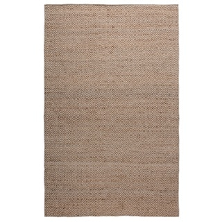 Hand-Knotted Solid Jute Natural Rug (2' x 3')