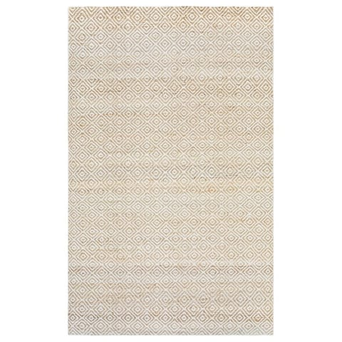 Hand-Knotted Solid Jute Natural Rug (5' x 8') - 5' x 8'