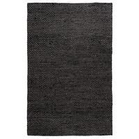 Hand-Knotted Solid Jute Black Rug - 5' x 8'
