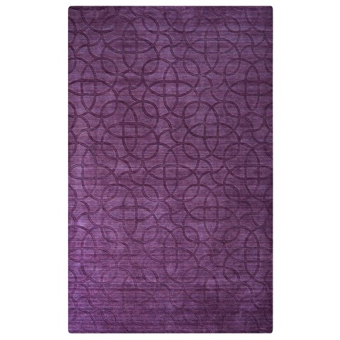 Handmade Solid Wool Purple Rug (3' x 5') - 3'6 x 5'6'