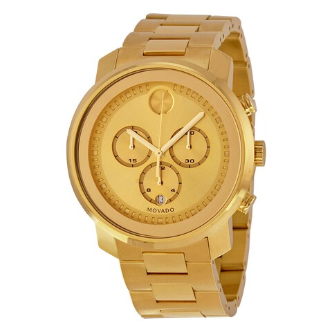 Movado Men's Bold Round Gold Ion-Plated Stainless Steel Bracelet Watch