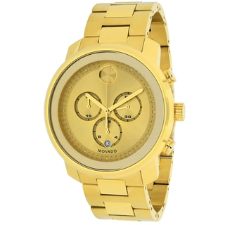 3ef548f02 Shop Movado Men's 3600278 'Bold' Chronograph Gold-tone Stainless Steel Watch  - Free Shipping Today - Overstock - 10362007