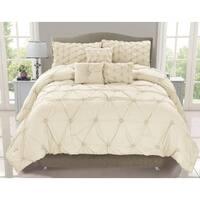 Cosmo Ivory Smocked 6-piece Comforter Set