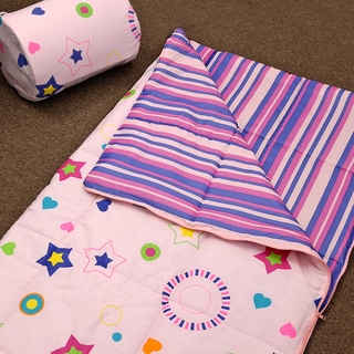 Veratex Glow in the Dark Star Glow Sleep Over Bag Pink