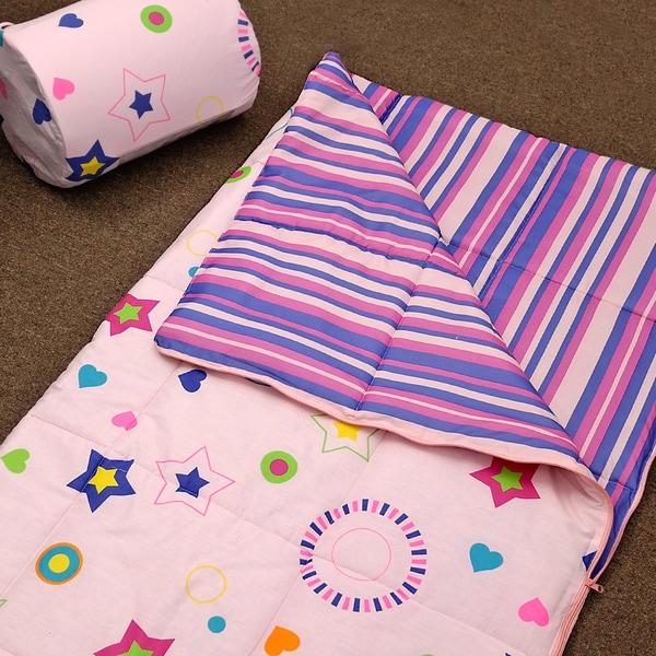 Veratex Glow in the Dark Star Glow Pink Sleeping Bag