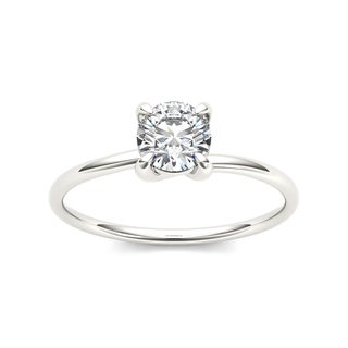 De Couer 14k White Gold 3/4ct TDW Diamond Classic Engagement Ring - White H-I
