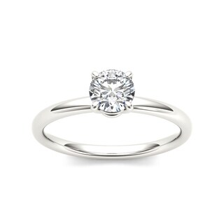 De Couer 14k White Gold 3/4ct TDW Diamond Classic Engagement Ring - White H-I