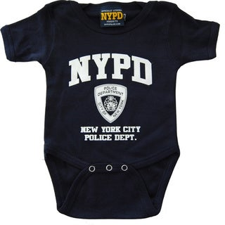 Navy NYPD Chest Print Infant Bodysuit