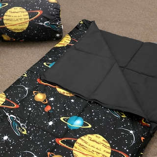 Veratex Glow in the Dark Galaxy Glow Sleep Over Bag Black